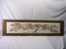 """TREE OF LIFE,HAND PAINTED FIRED CERAMIC,TILE ART,MEASURES 49""""INCHES X 12""""INCHES"""