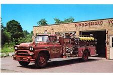 1958 American LaFrance Fire Truck Nimmonsburg,NY Postcard