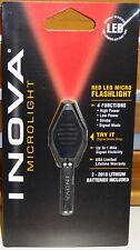 INOVA MICRO LIGHT LED KEYCHAIN KEY RING FLASHLIGHT RED NIGHT VISION NEW