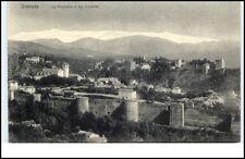 Granada Espana Tarjeta postal 1910/20 La Alhambra y las murallas Gesamtansicht