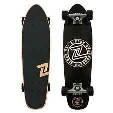 Z-Flex Skateboard Complete Z Circle Black White zflex Cruiser Z Flex FREE POST