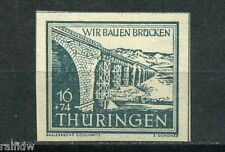 SBZ 16 Pfg. Brückenbau 1946** Sonderdruck Michel 114 a S geprüft (S8793)