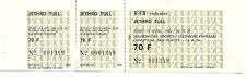 RARE / TICKET BILLET CONCERT - JETHRO TULL : LIVE A CLERMONT FD ( FRANCE ) 1982
