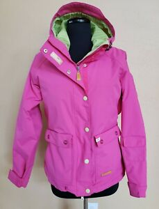 Womens FOURSQUARE 8K Pink Hooded  Snowboard Outerwear Coat Jacket Size Small