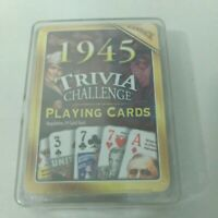 Trivia Challenge Playing Cards 1945