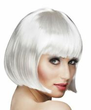 1920s White Cabaret Bob Wig Womens Ladies Showgirl Flapper Charleston Gatsby