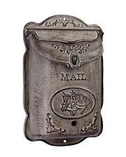 Boîte aux Lettres Selle Massif Fonte Boîte aux Lettres Cheval Antique Rustique