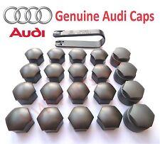 Original Audi Rueda de la aleación Perno Tuerca Tapas Cubre incluyendo herramienta de eliminación