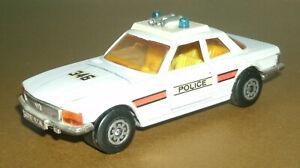 1/45 Scale 1970's Mercedes-Benz 350 SLC C107 Diecast Police Car - Matchbox K-61