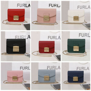Authentic Furla Metropolis Women Crossbody Bag Leather Chain Shoulder Mini Bag