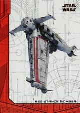 Star Wars Last Jedi S2 Red [99] Ships & Vehicles Chase Card SV-7 Res Bomber