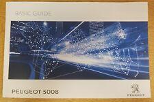 GENUINE PEUGEOT 5008 BASIC GUIDE OWNERS MANUAL HANDBOOK 2017-2018 BOOK # E-161