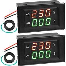 2 Pieces Volt Amp Meter Ac 500v 200a Voltmeter Ac Voltage Amp Current Meter Digi