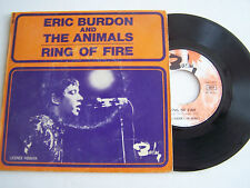 SP 2 TITRES FRENCH 45 TOURS , ERIC BURDON ET THE ANIMALS , RING OF FIRE .