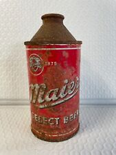 New listing Vtg Maier Cone Top Metal Beer Can * Read Listing*