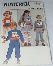 BUTTERICK Patterns: 6912 Childs Polar Bear top, skirt, shorts, pants, bag  6