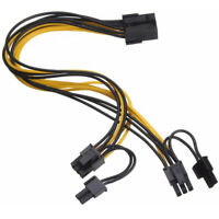 PCI-E 8-pin Female to 2x 6+2-pin Male Power Splitter Cable PCIE PCI Express Wire