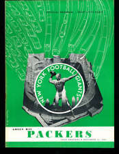 11/16 1952 Green Bay Packers vs New York Giants Football program bxftp2