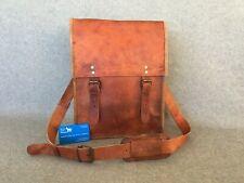 "Handmade Leather 15"" Padded Laptop Bag ML+ Satchel Vintage Billy Goat Designs"