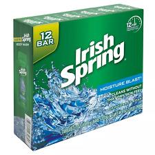 Irish Spring Bar Soap Moisture Blast 3.7 Oz PACK OF 12