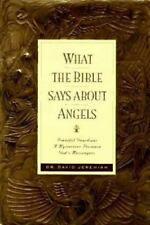 What the Bible Says about Angels by David Jeremiah (1996, Hardcover)