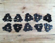 "10 x 7"" VINYL 45rpm BLACK PLASTIC RECORD CENTRE ADAPTORS [ SPIDERS ] ADAPTERS"