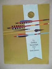 Ben Pearson Archery Arrows CATALOG / BROCHURE - 1961 ~ Golden Sovereign Arrow