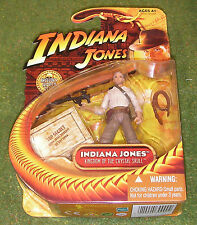 """INDIANA JONES CARDED 3.75"""" KINGDOM OF THE CRYSTAL SKULL HARRISON FORD w/ RPG"""