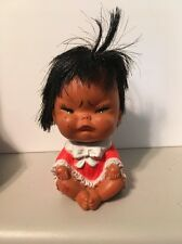 "Vintage Doll Baby Made in Korea Vinyl Rubber Emotional Mad Grumpy 3.5 """