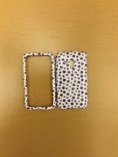 SAMSUNG RUSH M830 PURPLE DOTS ON WHITE SNAP ON COVER/CASE NEW