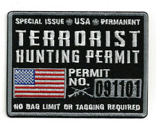 SPECIAL ISSUE TERRORIST HUNTING PERMIT HAT PATCH 911 USA PENTAGON FLIGHT 93 PA