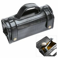 Black Travel Sports PU Leather Case Pouch Men Shaving Brush Razor Toiletry Bag