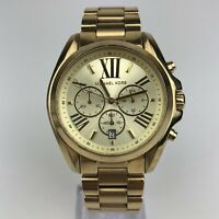 Michael Kors Women's Quartz Watch Chronograph Gold Case 42mm MK5605