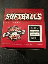 Markwort 10� White Softball Lot Of 6 New In Box/wrapper Unused Softballs