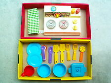 Pretend Play Food Fisher Price Stove Measuring Spoons Pizza Sandwich Plastic Lot