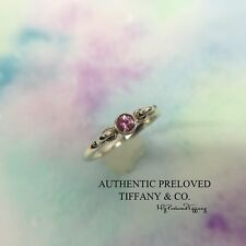 Mint Authentic Tiffany & Co. Elsa Peretti Pink Sapphire Swan Silver Ring Retired