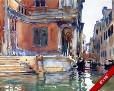SCUOLA GRANDE SAN ROCCO VENICE ITALY WATER COLOR PAINTING ART REAL CANVAS PRINT