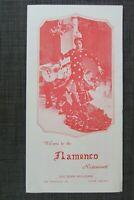 1977 Flamenco Restaurant Souvenir Menu with Ads, San Francisco, CA