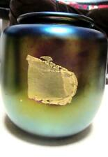 Signed Robert Eickholt 1982 Iridized and Gold Leaf Vase Beautiful and Classic!