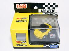 TAKARA TOMY Choro-Q Chevrolet CORVETTE Yellow Pullback Miniature Car Stand Boxed