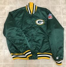 Vintage PRO LINE by STARTER NFL Green Bay Packers Satin Nylon Jacket XL EUC