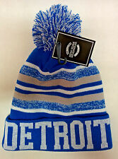 Detroit Lions Team Color Sideline Replica Pom Pom Knit Beanie Hat