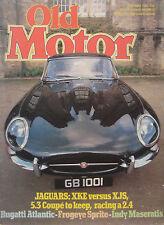 Old Motor 02/1982 featuring Healey Sprite, Jaguar, Bugatti, Maserati Tipo 8CTF