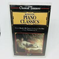 Classical Treasures Romantic Piano Classics Cassette Mozart Beethoven