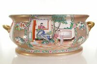 """Beautiful Famille Chinese Style Porcelain Large Foot Bath 22""""L"""