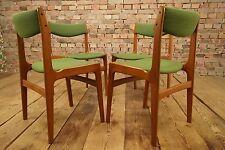 4x Sala pranzo Sedie Mid Century Danish Moderno Sedia TEAK Dining sedie Set 60s