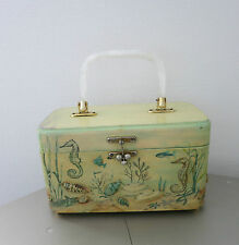 Vintage bolso _ decoupage heirlooms By Anne singler _ 3 d_1950`s box Bag _ Lucite
