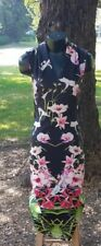 FlowerPower🌻❤ TED BAKER Orchid Print Fitted Midi Sheath 2/ US Size 4-6