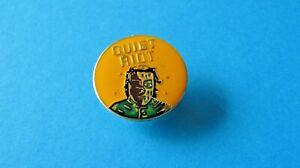 Vintage QUIET RIOT Pin Badge, VGC. Heavy Metal Band.