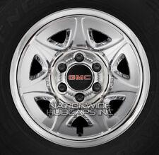 """4  2014-2017 GMC SIERRA 1500 17"""" CHROME Wheel Skins Hub Caps Rim 7 Spoke Covers"""